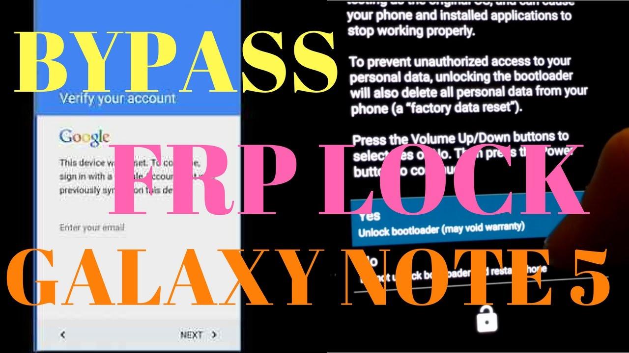 Bypass Google Account FRP Lock - Samsung Galaxy Note 5 (SM-N920V) 6 0 1