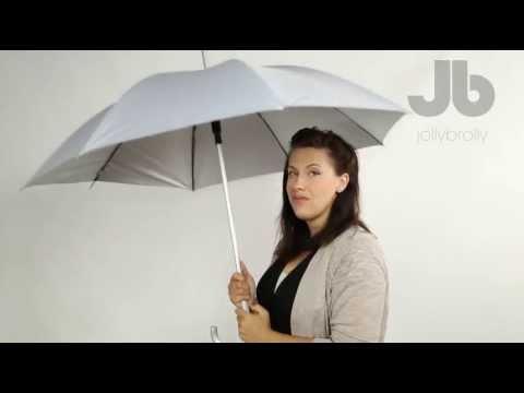 Silver aluminium frame city umbrella by Jollybrolly