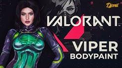 Valorant Agent: Viper | Bodypaint Just Chatting Twitch Highlights | Djarii