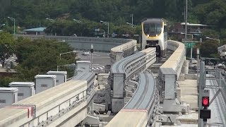 大邱都市鉄道3号線 龍池駅折り返し風景