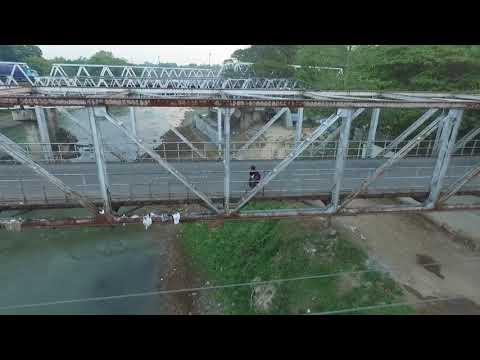 Jembatan Bengawan Solo Jurug Cantik Dari Udara