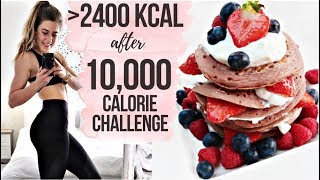 WHAT I EAT IN A DAY AFTER A 10,000 CALORIE CHEAT DAY || 2,400 calories