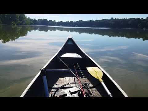 My Fishing Canoe Setup with Trolling Motor Mount | Doovi