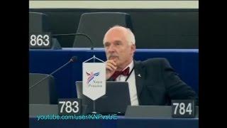 [ENG] Janusz Korwin-Mikke w PE: NATO nic nie może zrobić (22.10.2014)