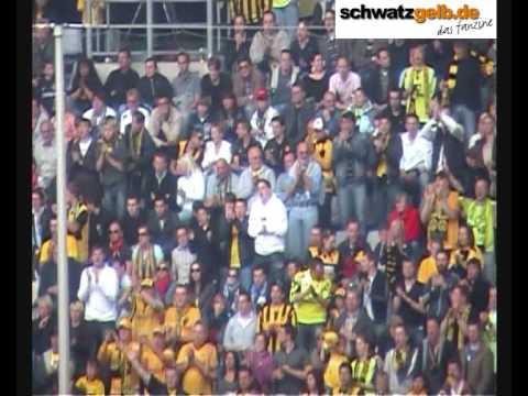 Borussia Dortmund vs Karlsruher SC 4:0 Part 3 of 3 - BVB - KSC Südtribüne