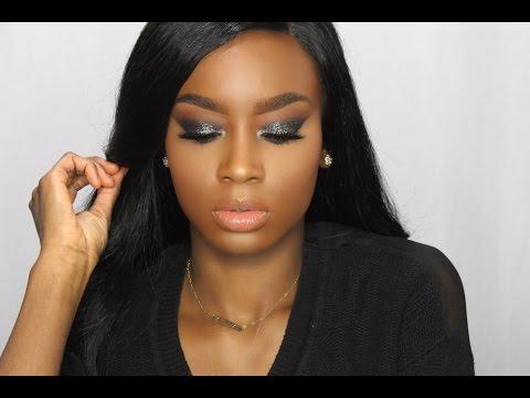 Black Glitter Smokey Eye | New Years Eve Makeup