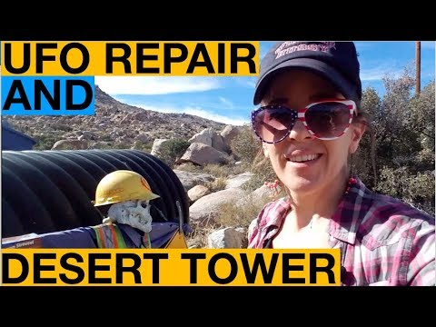 Two Roadside Attractions off I-8: Coyote's Flying Saucer Repair and the Desert Tower
