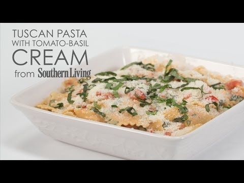 How to Cook Tuscan Pasta with Tomato Basil Cream | MyRecipes