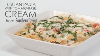 How to Cook Tuscan Pasta with Tomato Basil Cream