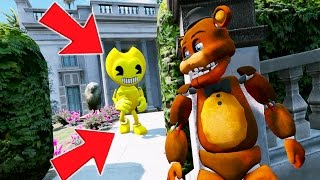 WITHERED FREDDY vs GOLDEN BENDY! (GTA 5 Mods For Kids FNAF Funny Moments) RedHatter