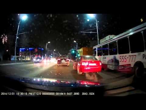 Prestigio RoadRunner 545GPS Тестирование в Рязани.  Ночная съемка