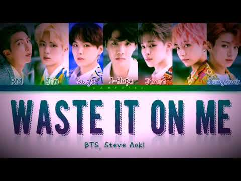 Waste It On Me - Steve Aok & BTS 'Lyrics' Mp3