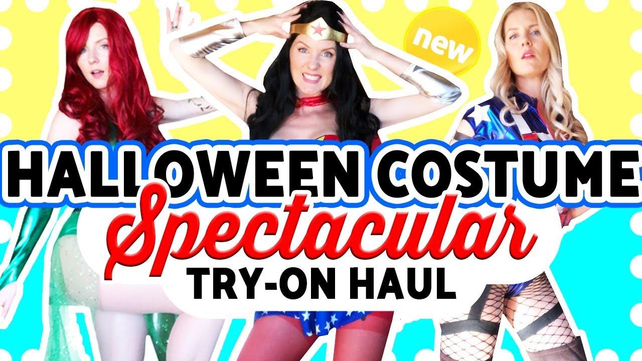 HALLOWEEN COSTUME IDEAS! - SUPERHERO & VILLAIN COSTUME - TRY ON!