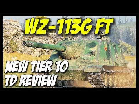 ► WZ-113G FT - New Tier 10 Chinese Tank Destroyer - World of Tanks Patch 9.20 Update