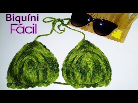 Biquíni de Crochê para iniciantes   Super fácil   Lu Candeias