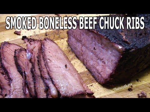 Smoked Boneless BBQ Beef Chuck Short Ribs - AMAZING CUT OF MEAT - The Wolfe Pit