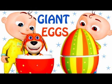Five Little Babies Opening Giant Eggs | Zool Babies Fun Songs | Five Little Babies Collection