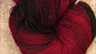 Spinning Gradient Yarn Red to Black --- spinning my stash #1