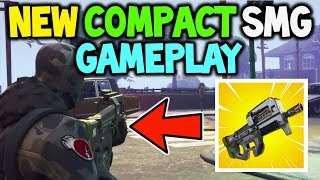 Fortnite *NEW* COMPACT SMG Early GAMEPLAY! (Release Date + STATS + Sound Effects) New Gun Fortnite