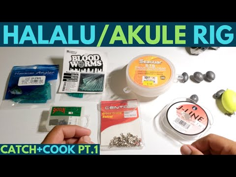 Fishing Hawaii 2018: How To Tie Fishing Rig For Halalu/Akule(Scad)Part 1