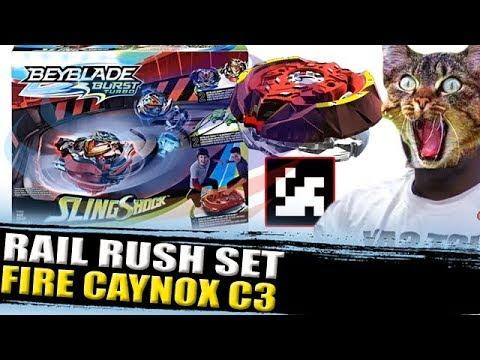 🔥RAIL RUSH SET + QR CODE FIRE CAYNOX C3 + ZANKYE COLLAB! BEYBLADE BURST NEWS