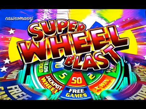 SUPER WHEEL BLAST SLOT - 50 FREE SPINS! - BIG WIN! - Slot Machine Bonus - 동영상