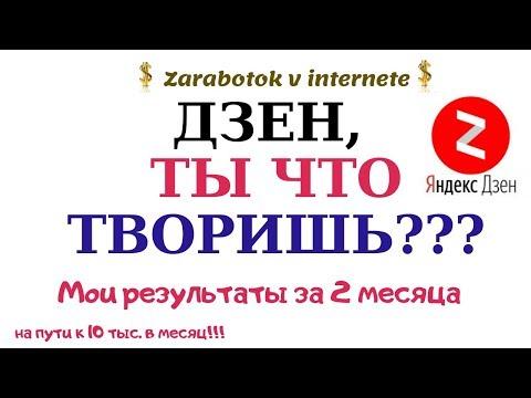 Яндекс ДЗЕН: что сейчас происходит? Мои результаты за 2 месяца. На пути к 10 000 руб. в месяц!