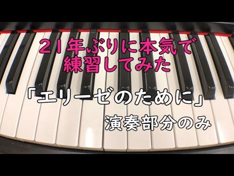 【ピアノソロ】エリーゼのために※演奏部分のみ【21年ぶりに本気で練習してみた】