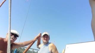 Обучение курсантов управлению парусной яхтой. Практические занятия.