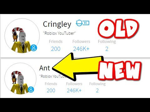 CHANGING MY ROBLOX NAME TO ANT