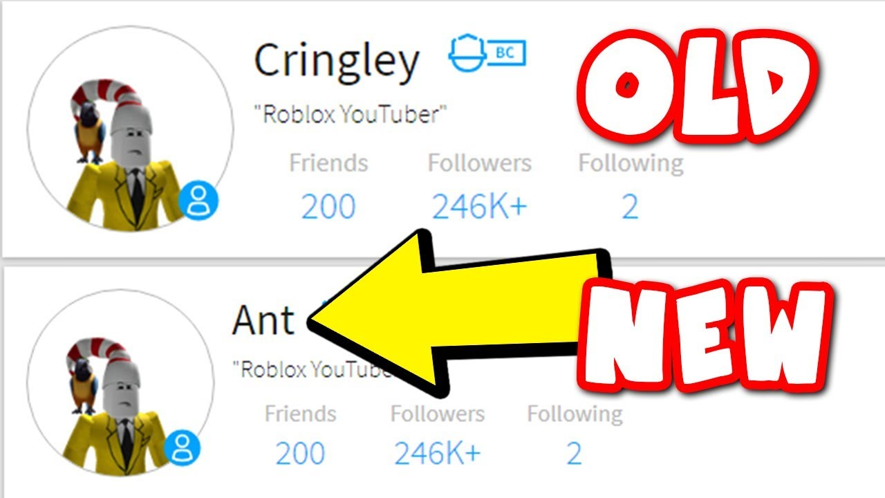 Roblox Names: CHANGING MY ROBLOX NAME TO ANT