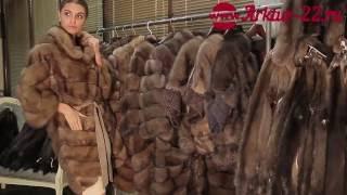 видео Пальто женское из меха соболя