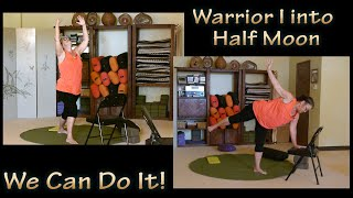 Nix your Fear of Falling with this Adaptive Version of Half Moon Pose with Heather