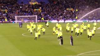 Everton stewards half time v Fulham