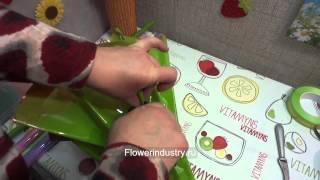 Курсы флористики букет из целлофана с зажимами(, 2014-12-10T00:24:25.000Z)