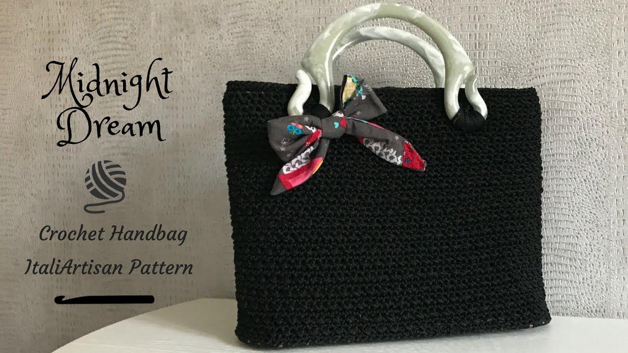 Midnight Dream Borsa Alluncinetto In Cordino Crochet Handbag
