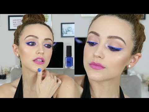 Download Youtube: Easy Colorful Makeup Tutorial | Summer Blue & Bright Lips