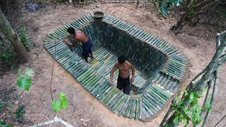Build Bamboo Pool For Swimming