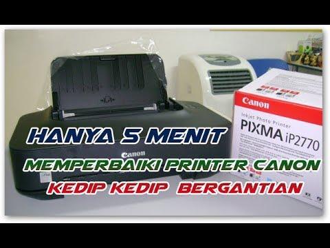 Printer canon ip 2770 error number 5200, lampu kedip selang seling bergantian, blink bergantian, Pri.