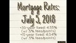 Mortgage Rates:  July 5, 2018