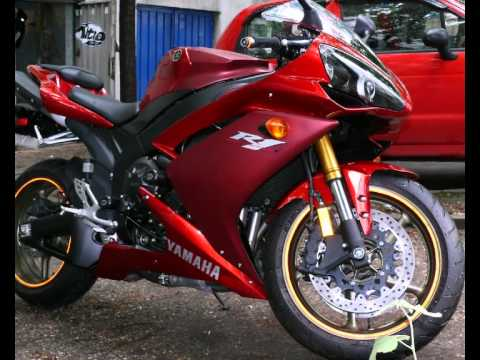 Yamaha R1 2008 Red 0.0 KM walkaround | R&G Frame Sliders, Radiator ...
