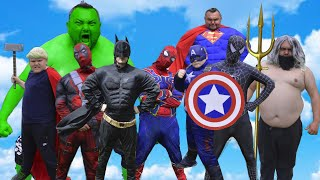 Hulk VS Batman VS Superman  VS Captain America VS Spider-man VS Black Spider-man VS Aquaman VS Thor