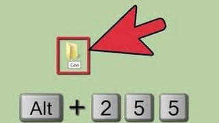 "Its very easy to create a ""Con"" name folder in computer or laptop. ..."