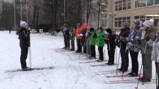 урок на лыжах