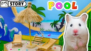 WaterPark for Hamster 🌴 Summer Hamster World🌴 Swimming Pool Water Slide