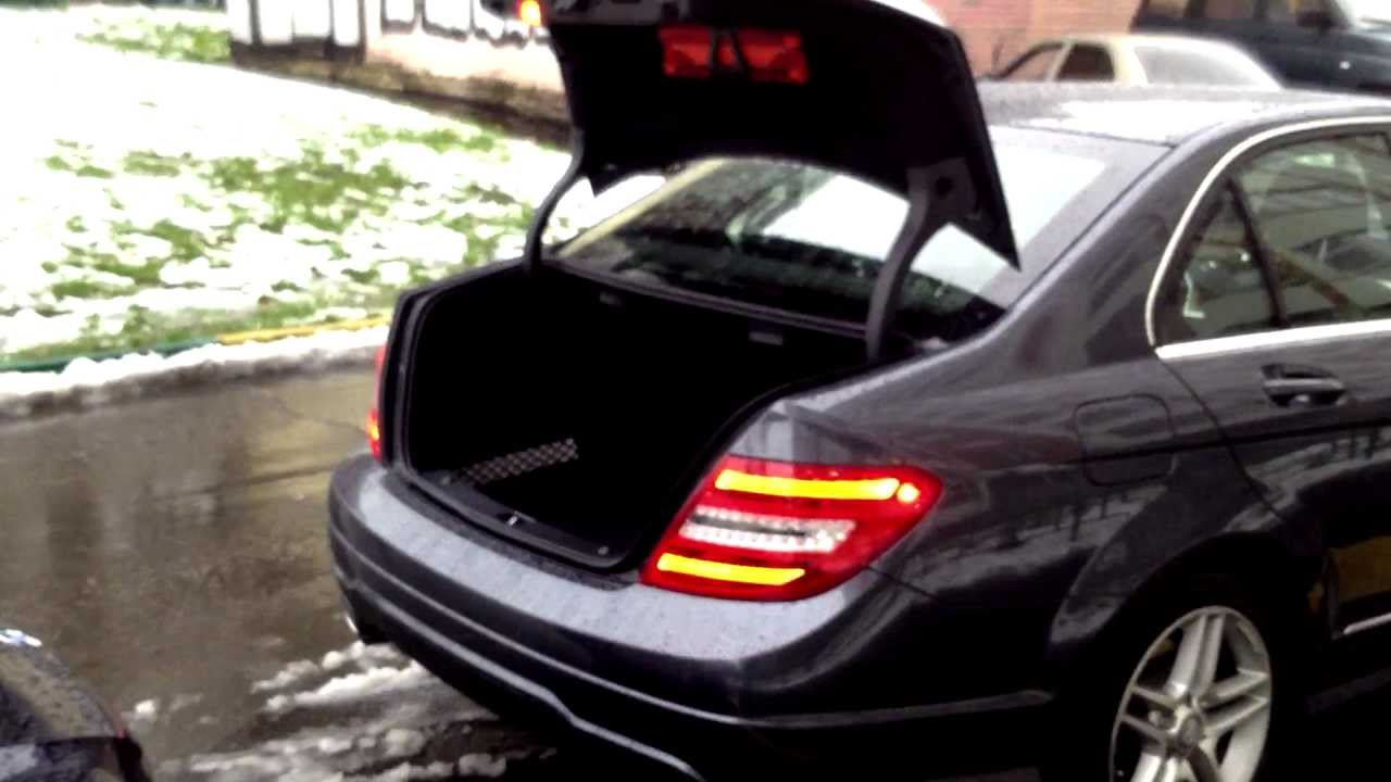 Mercedes benz c250 amg 2012 open car trunk youtube for How to open the trunk of a mercedes benz e320