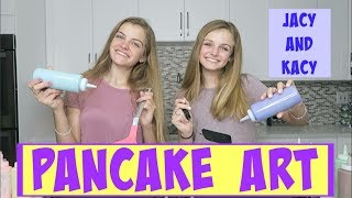 Pancake Art Challenge ~ Jacy and Kacy