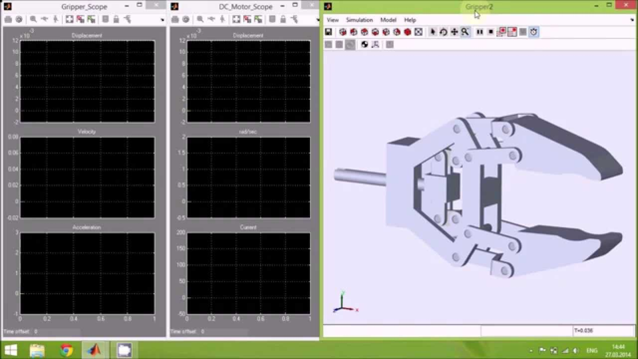 PID Control of Robot Gripper in Matlab / Simulink