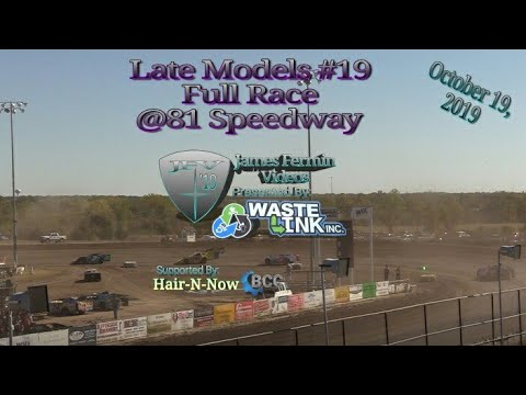 Late Models #19, Full Race, 81 Speedway, 10/19/19
