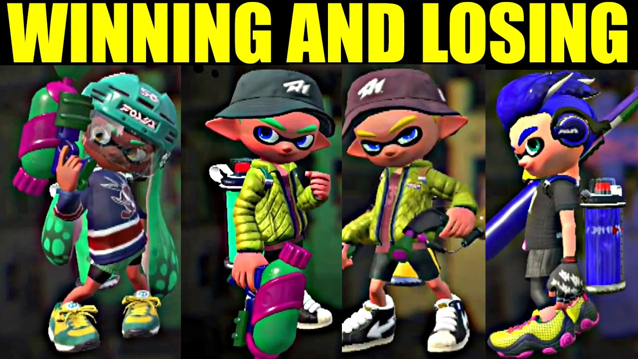 All WINNING and LOSING Animations in Splatoon 2 So Far NINTENDO SWITCH  YouTube